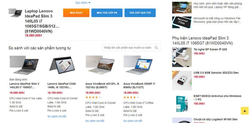 Khi chọn mua sản phẩm có giá trị lớn, khách hàng thường truy cập website để tham khảo thông tin
